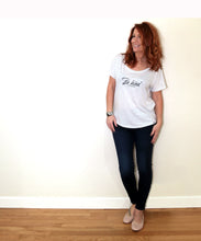 Load image into Gallery viewer, Be Kind (to yourself) Flowy Scoop Neck Tee