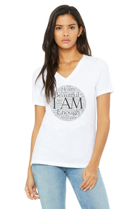 I AM Relaxed Fit Super Soft V Neck Tee
