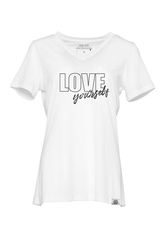 LOVE yourself Relaxed Fit Super Soft V Neck Tee