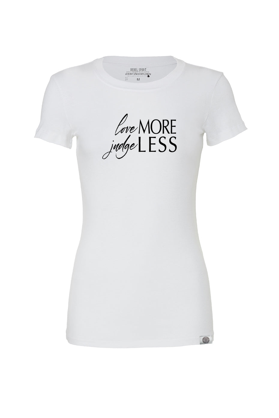 loveMORE judgeLESS Super Comfy Tee