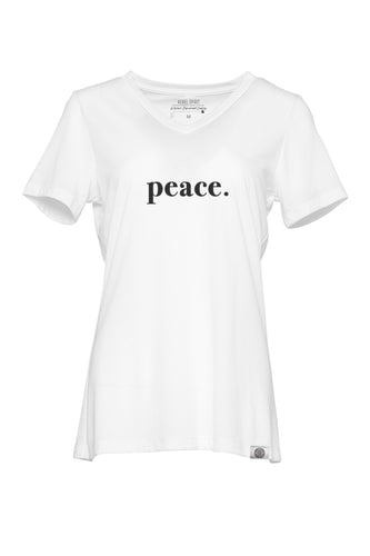 peace. Relaxed Fit Super Soft V Neck Tee