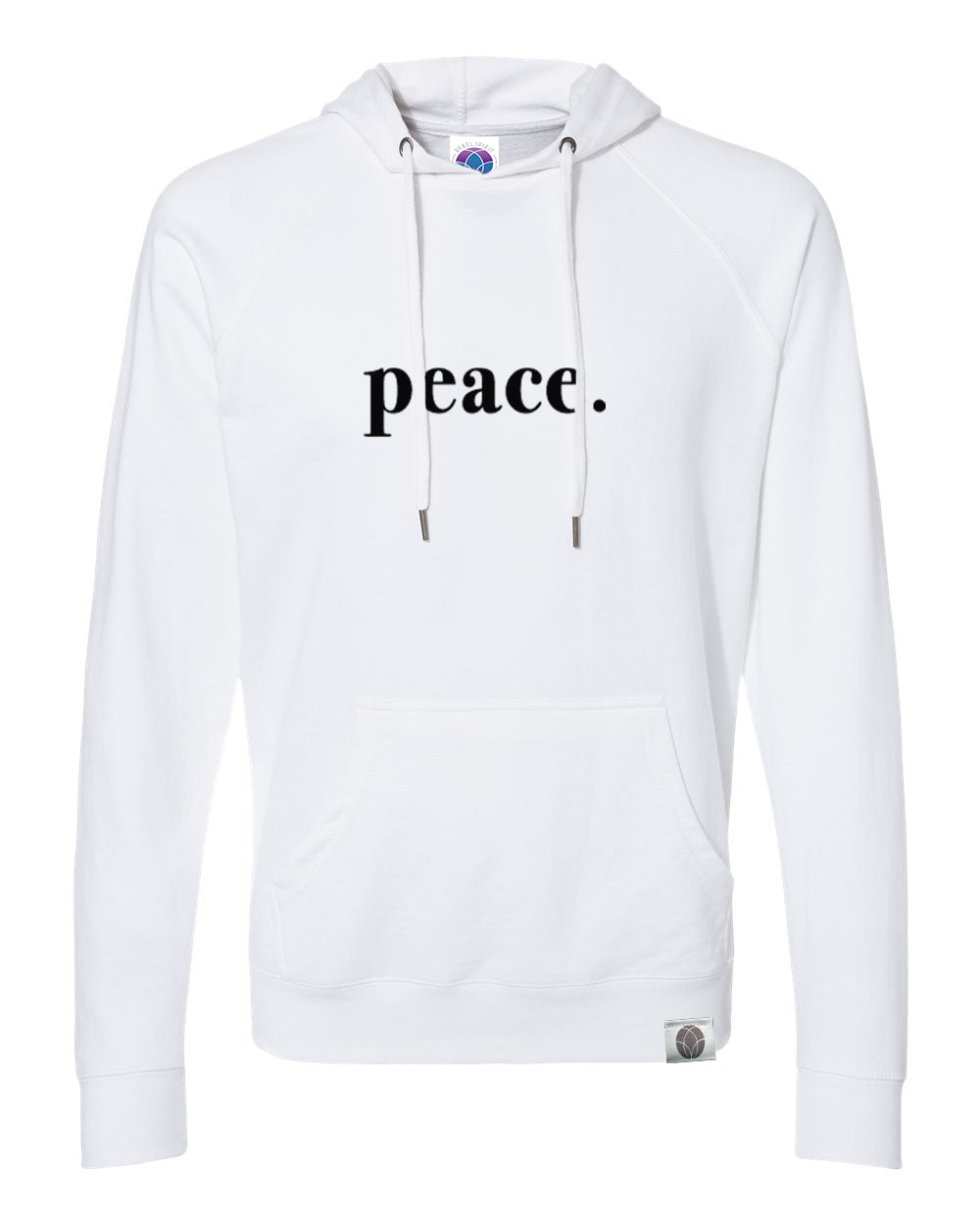 peace. Loopback Terry Lightweight White Hoodie