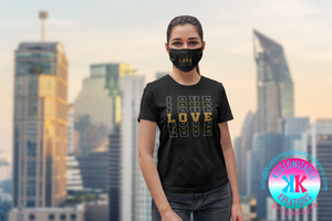 Black Love T-shirt and Mask set