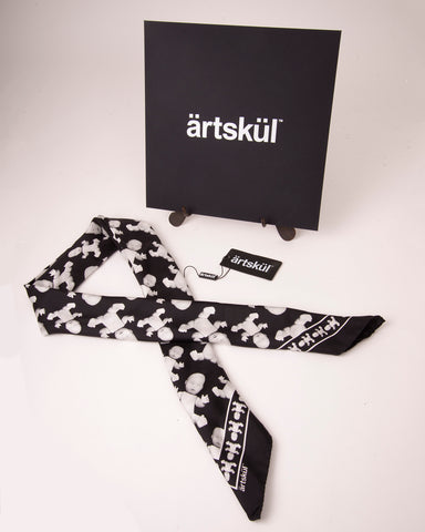 artskul's scarves come packaged in our custom black envelope packaging.  Like our unique luxury scarves, the black envelope is soft to the touch.