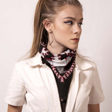 Load image into Gallery viewer,  Remix street style edge with a cowboy tie. Artskul's Baby Pop Bandana makes a stylish statement walking the Old Town Road.