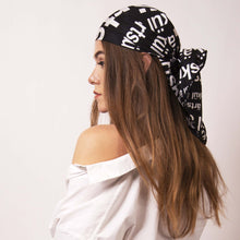 Load image into Gallery viewer, Artskul's chic scarf is styled as a streetwear headscarf. Add a strong finishing touch with a bit of attitude to any style.