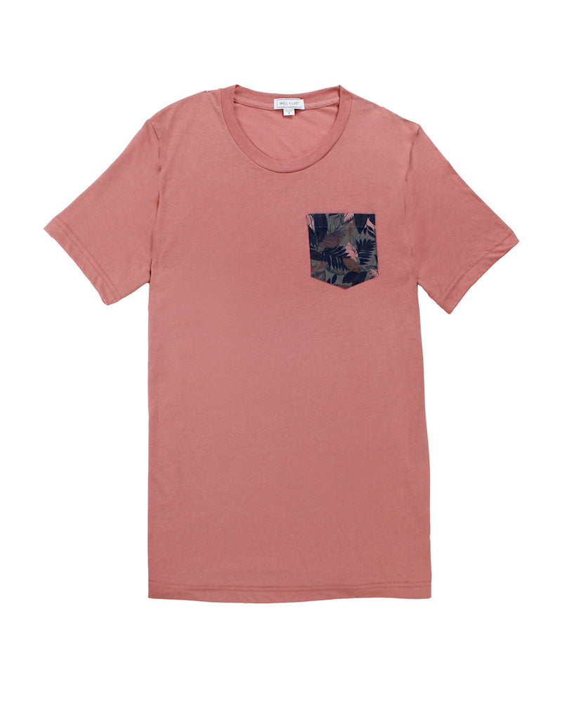 Nico Tropical Pocket Coral Tee