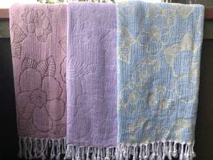 Pure Hibiscus Turkish Cotton Towel/Blanket designed in Hawai'i