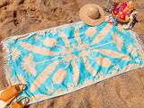 Summer Smoothie Set: 3 pack of Banana Patch & Papaya Blossom Turkish Beach Towels Plus Mango Mama a