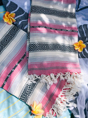 Pink Sarape Bamboo and Turkish Cotton Wrap