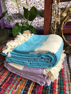 Comfy Taimane & ZigZag Blankets made with Turkish Cotton