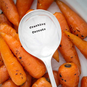 Cracking Carrots Vintage Silver Plated Spoon