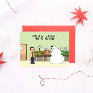 frosty-was-caught-picking-his-nose-card