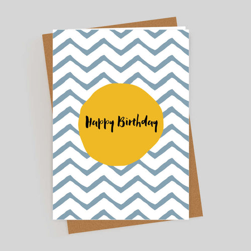 Happy Birthday ZigZag Card