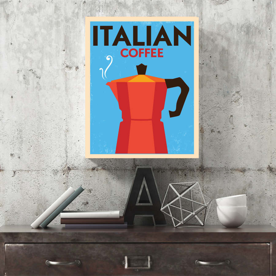 Retro Italian Coffee Canvas Print