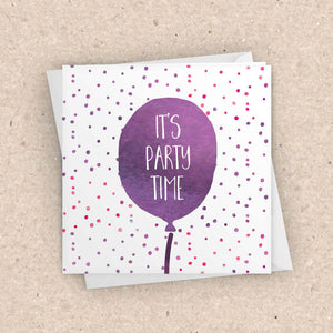 It's Party Time Card