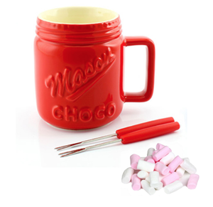 Mason Jar Fondue Set With Mini Marshmallows