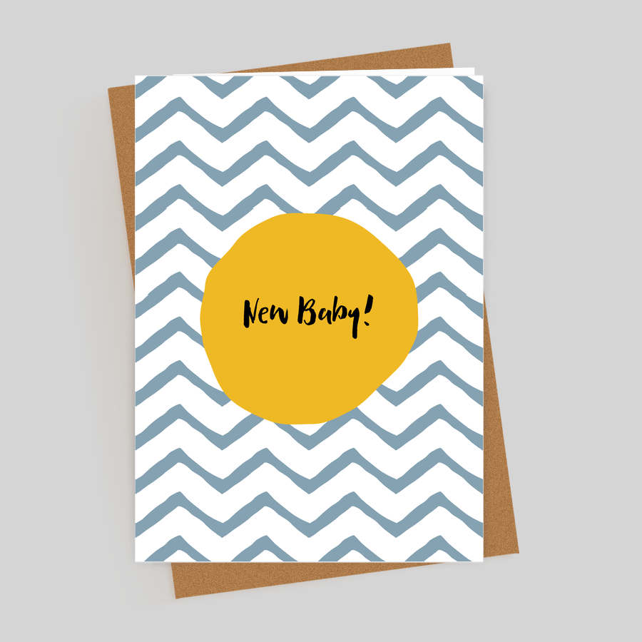 New Baby ZigZag Card