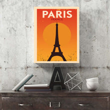 Paris Eiffel Tower Retro Canvas Print