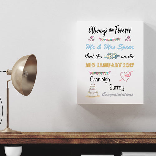 Personalised Always And Forever Canvas