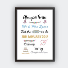 Personalised Always And Forever Print-black