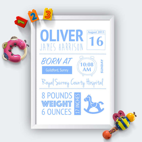 Personalised Baby Born Print-white