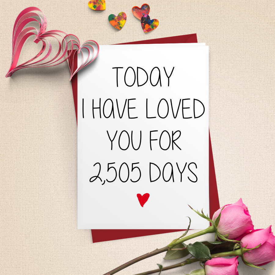 Personalised Days I Have Loved You Card