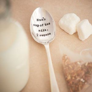 Personalised How You Like Your Tea Silver Plated Vintage Tea Spoon