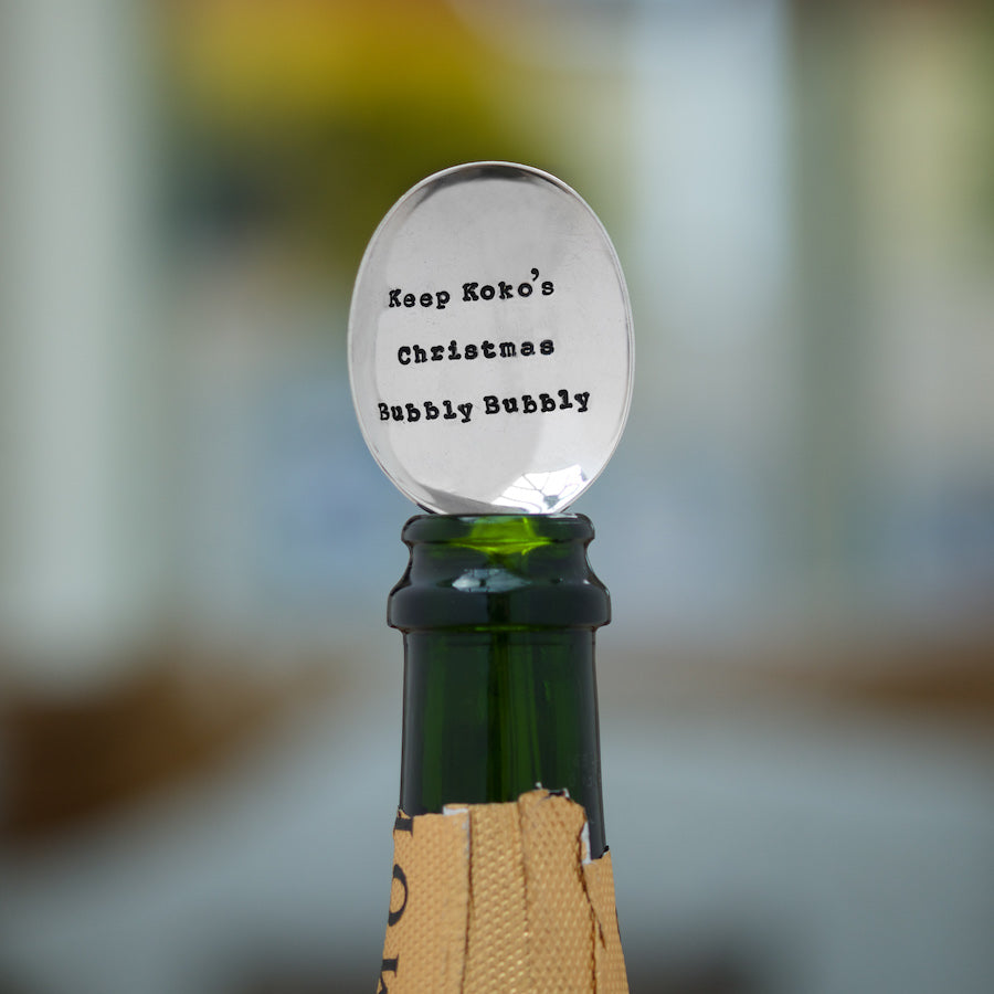 Personalised Keep Your Christmas Bubbly Bubbly Champagne Spoon