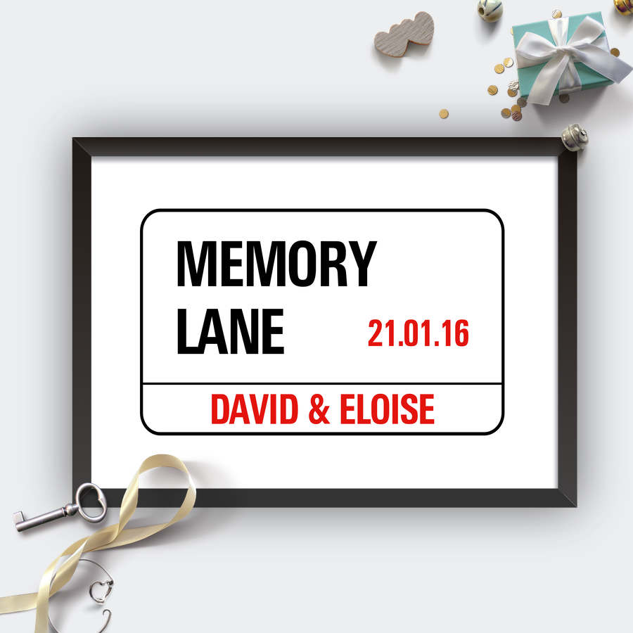 Personalised Wedding London Street Sign-black