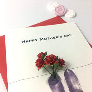 Personalised Wellington Boots Bouquet Mother's Day Card