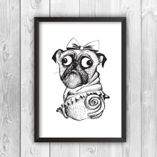 princess-pug-print-black