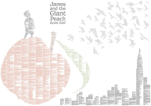 Spineless Classics - James And The Giant Peach Colour Print