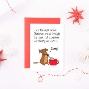 Christmas Mouse.Twas The Night Before Christmas Mouse Card