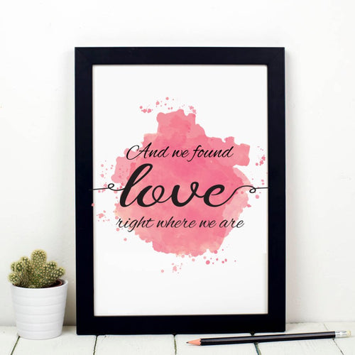 Personalised Watercolour First Dance Wedding Song Lyric Print