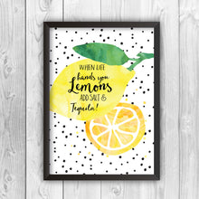 When Life Hands You Lemons Add Salt And Tequila Print-black