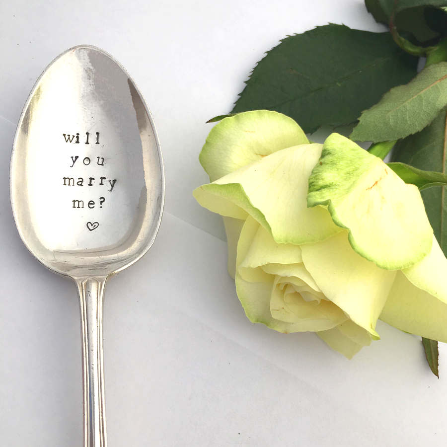 Will You Marry Me Dessert Spoon