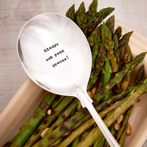 Always Eat Your Greens Spoon