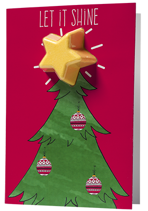 Bomb Cosmetics - Let It Shine Christmas Tree Card - Sorted Gifts