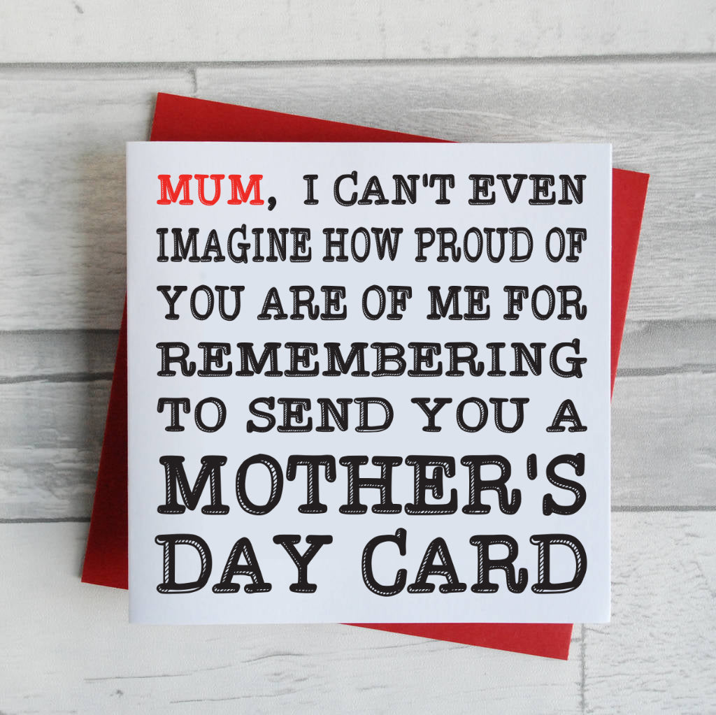 Proud Mum Mother's Day Card