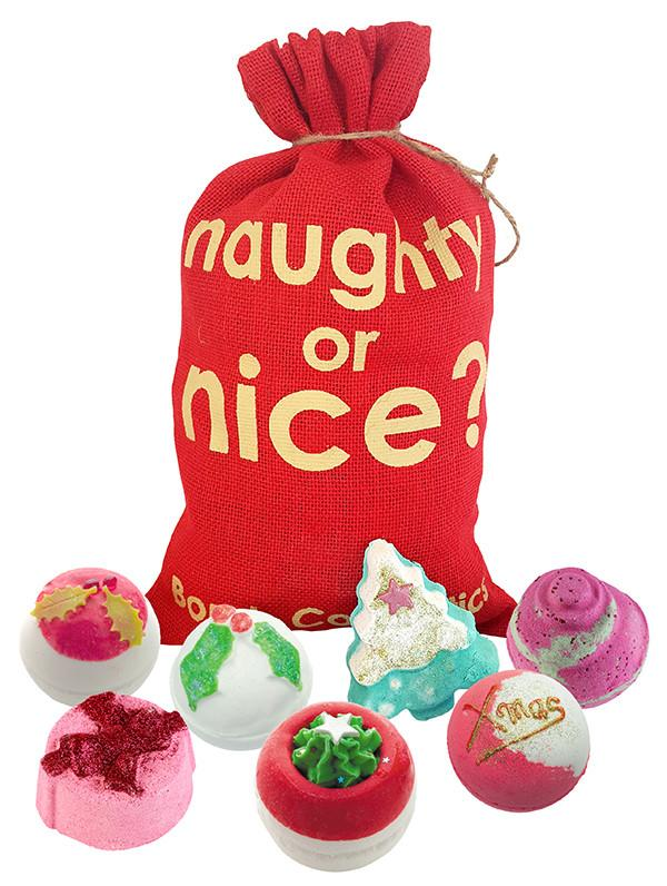 Bomb Cosmetics - Naughty Or Nice Hessian Sack - Sorted Gifts
