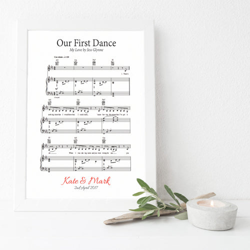 wedding lyrics music sheet