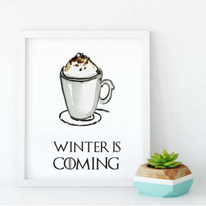 Winter In Coming Print