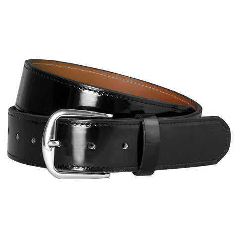 Black Patent Leather Officials Belt
