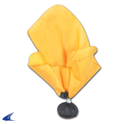 Weighted Referee Penalty Flag with Black Ball