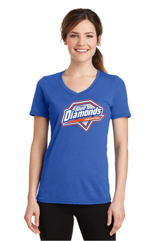Blue Diamonds Ladies V-Neck T