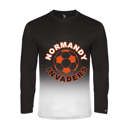 Normandy Men's Soccer Ombre Long Sleeve T
