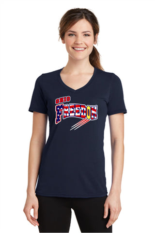 OHIO FREEDOM LADIES VNECK T-SHIRT