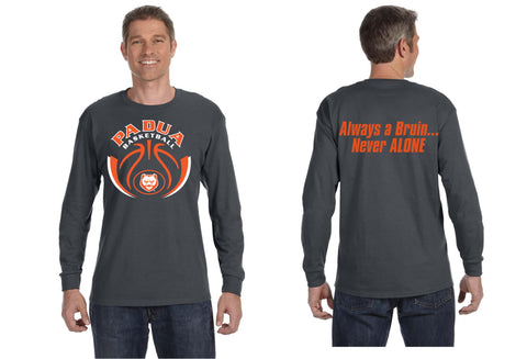 Padua Girls Basketball Long Sleeve T-Shirt with Saying on Back