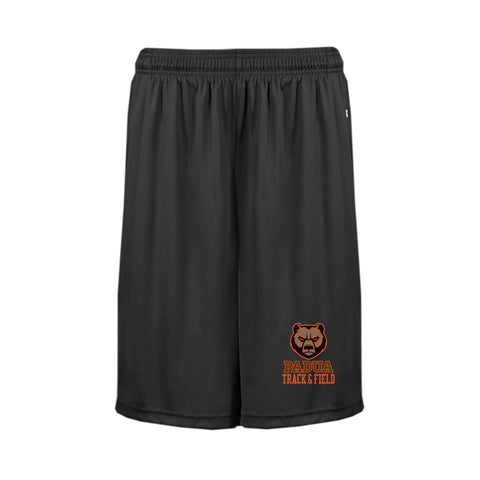 Padua Track & Field Badger Dry Fit Shorts with Pockets (Mens or Ladies)